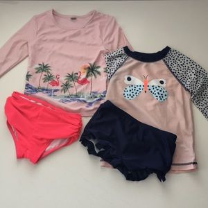 Cat & Jack Set of Two Two-Piece Swimsuits